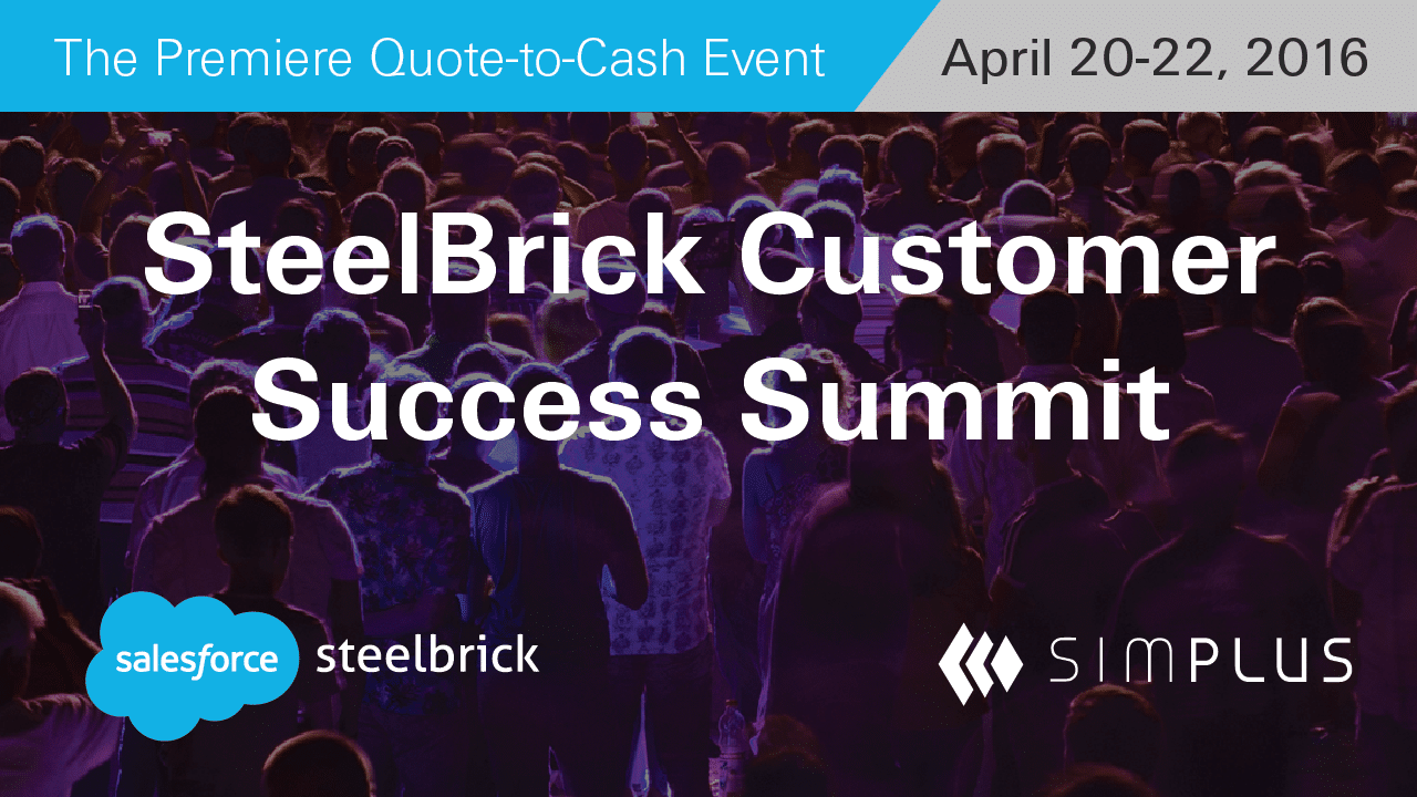 Steelbrick customer success summit