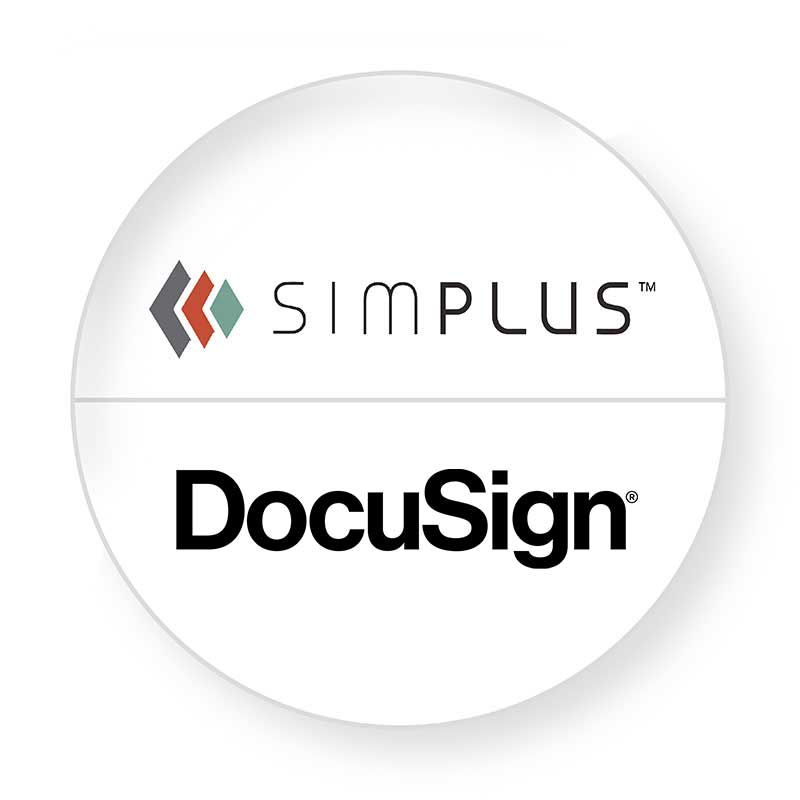 dual logo Simplus DocuSign